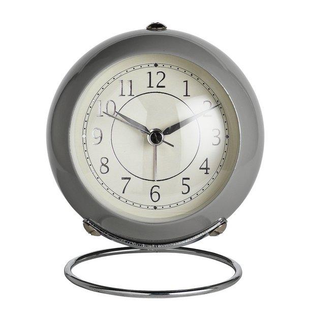 Buy Wm. Widdop Alarm Clock Silver & Grey | Clocks | Argos