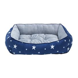 Star Box Blue and Grey Pet Bed - Large