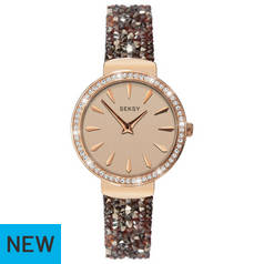 Seksy by Sekonda Rose Dial Ladies Brown Strap Watch