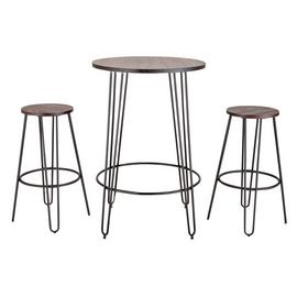 Argos Home Hairpin Bar Table & 2 Stools