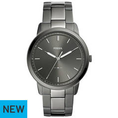 Fossil Grey Dial Mens Stainless Steel Watch