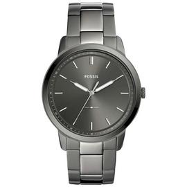 Fossil Minimalist Mens Smoke Stainless Steel Watch