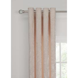 Argos Home Crush Velvet Lined Eyelet Curtain