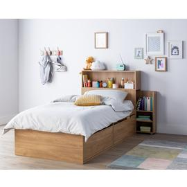 Argos Home Lloyd Oak Effect Cabin Bed, Headboard & Mattress