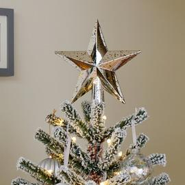 Argos Home Winters Cabin Mercury Star Tree Topper