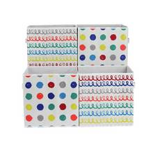 Argos Home Set of 4 Spots & Squiggles Canvas Boxes