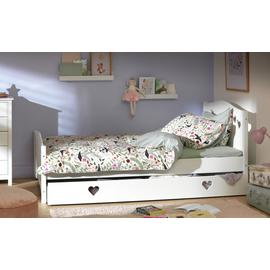 Argos Home Mia White Small Double Bed, Drawer &Kids Mattress
