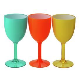 Argos Home Miami Double Inject Plastic Hi Goblet - 4 Pack