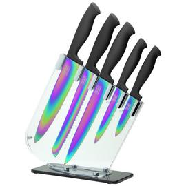 Taylors Eye Witness 5 Piece Iridescent Kitchen Knife Block