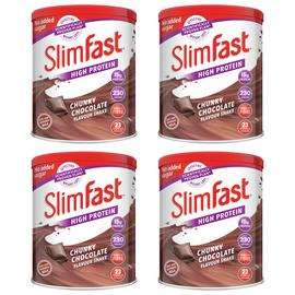 SlimFast Chunky Chocolate Shakes - Pack of 4