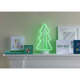 Argos Home Rudolph's Day Off Neon Light Up Tree