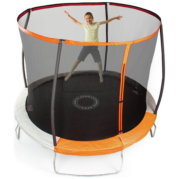 Sportspower 8ft Outdoor Kids Trampoline with Enclosure