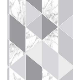 Sublime Marble Steel Geometric Wallpaper