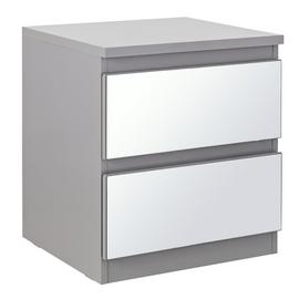 Argos Home Jenson 2 Drawer Mirrored Bedside Cabinet
