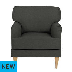 Argos Home Dune Fabric Armchair - Charcoal