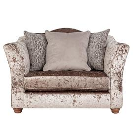 Argos Home Fantasia Velvet Cuddle Chair - Truffle