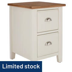 Argos Home Highbury Oak & Cream 2 Drawer Bedside Chest