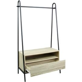 Argos Home Clothes Rail & Drawer - Black