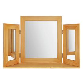 Argos Home Triple Mirror - Oak