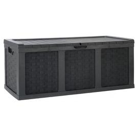 McGregor 634L Rattan Storage Box - Black