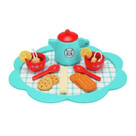 Chad Valley Wooden Tea Set Playset