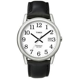 Timex Men's Black Leather Strap Watch
