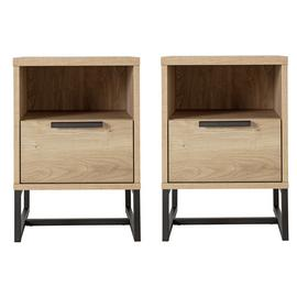Argos Home Nomad 2 Bedside Tables Set