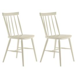 Habitat Talia Pair of Spindle Back Dining Chair - White