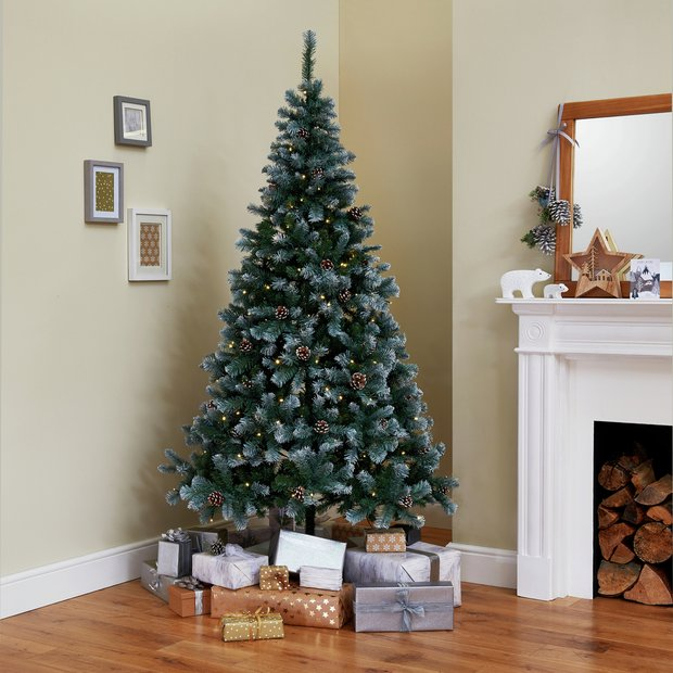 Image Christmas Tree.Buy Argos Home 7ft Oscar Pine Cone Christmas Tree Green Artificial Christmas Trees Argos