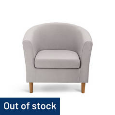 Argos Home Fabric Tub Chair - Grey