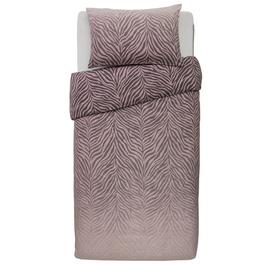 Argos Home Blush Zebra Ombre Bedding Set - Single