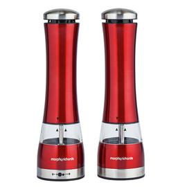 Morphy Richards Accents Salt and Pepper Mills - Red