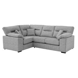 Argos Home Donavan Left Corner Fabric Sofa - Silver