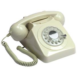 GPO 746 Rotary Dial Phone - Ivory