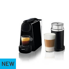 Magimix Nespresso Essenza Pod Coffee Machine Bundle - Black