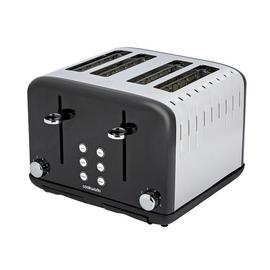 Cookworks Pyramid 4 Slice Toaster - Black
