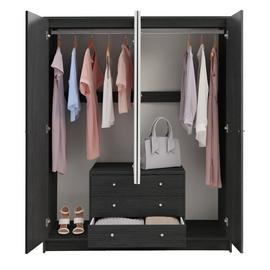 Argos Home Malibu 4 Door 3 Drawer Mirror Wardrobe