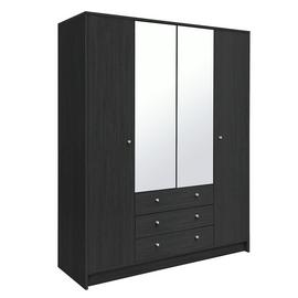 Argos Home Malibu 4 Door 3 Drawer Mirrored Wardrobe