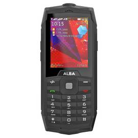 SIM Free Alba Rugged 2.4 Mobile Phone - Black