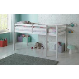 Argos Home Kaycie White Shorty Mid Sleeper & Kids Mattress