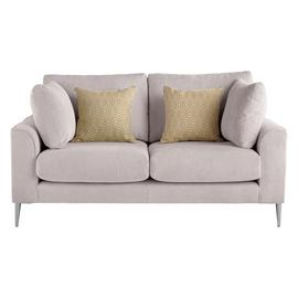 Argos Home Beckett 2 Seater Fabric Sofa - Silver