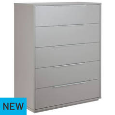 Argos Home Holsted Grey Gloss 5 Drawer Chest