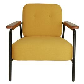 Habitat Cooper Yellow Fabric Armchair