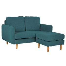 Argos Home Remi 2 Seater Fabric Chaise in a Box - Teal