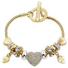 Lipsy Two Tone Colour Charm Bracelet