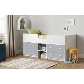 Argos Home Jackson White & Grey Mid Sleeper Bed & Mattress