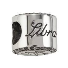 Moon & Back Sterling Silver Zodiac Charm - Libra