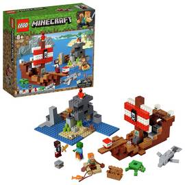 LEGO Minecraft Pirate Toy Ship Adventure Playset - 21152