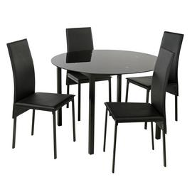 Argos Home Lido Glass Round Dining Table & 4 Chairs