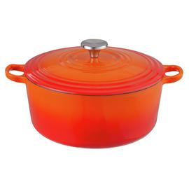 Argos Home 5.3 Litre Cast Iron Casserole Dish - Orange